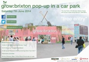 grow brixton pop up flyer 07.06.14